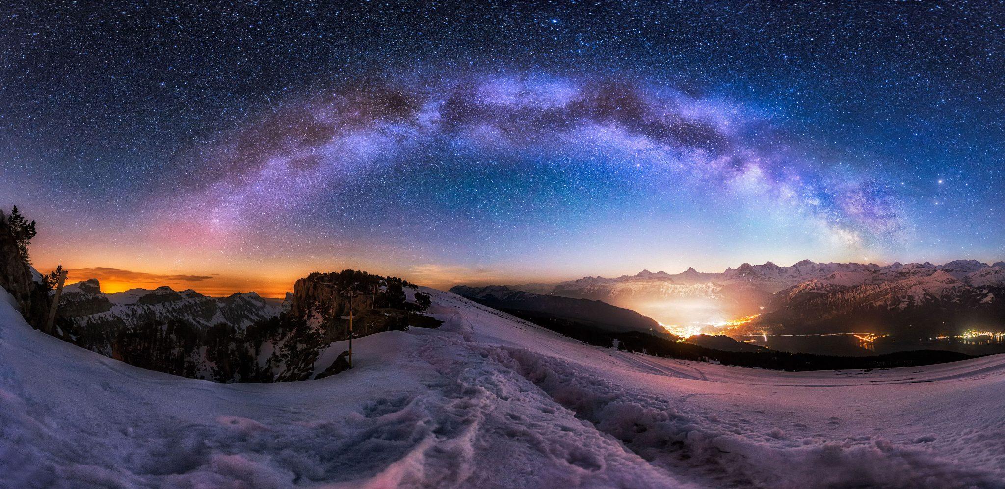 Milky Way - Bilder Als Leinwand  Alu-dibond
