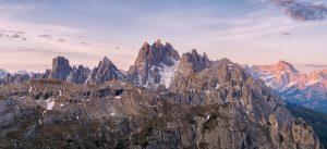 Panorama-Dolomiten-Italy-Sunset