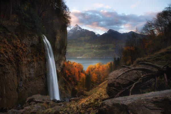 Serenbachfälle, Schweiz