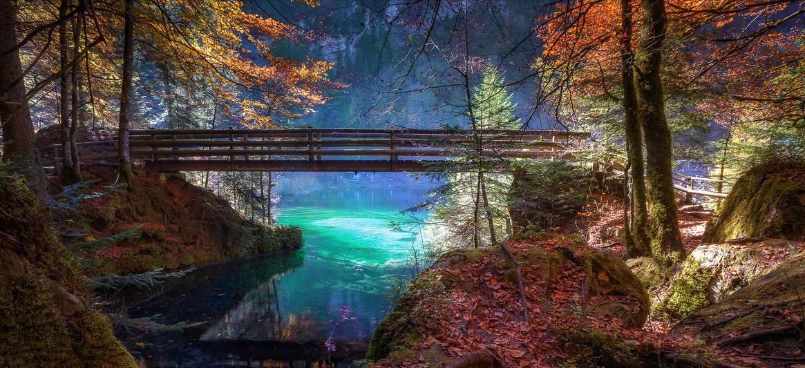 Blausee autumn