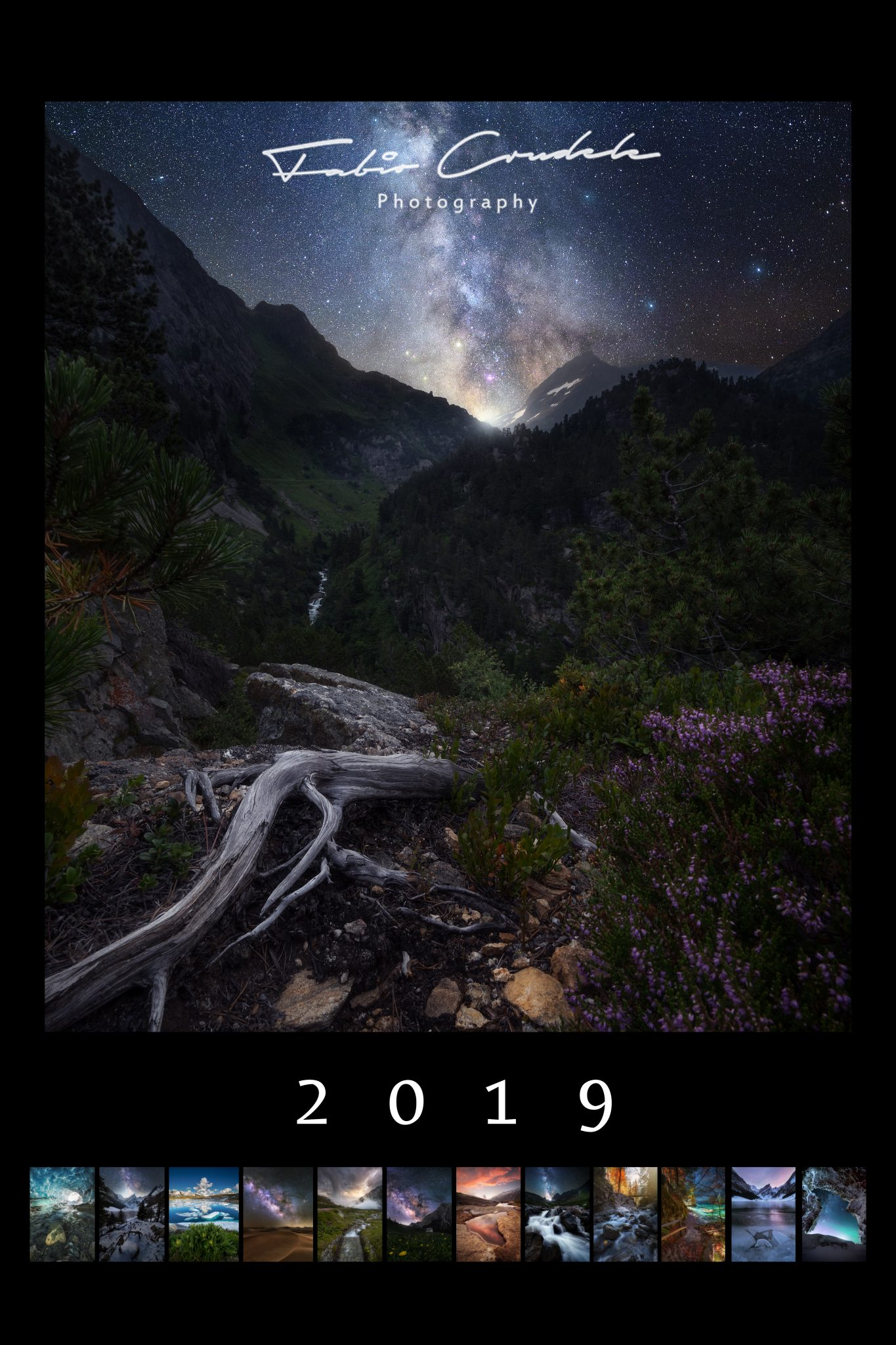 calendar-2019-Format High-landscape-milkyway-milky way